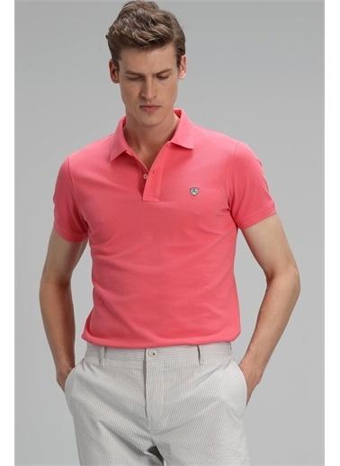 Lufian Laon Spor Polo T- Shirt Koyu Pembe Pembe